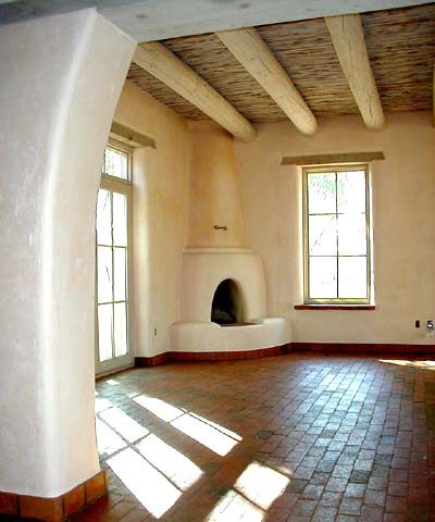 Living Room Kiva Fireplace
